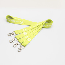 logo polyester Yellow Neck strap lanyard for ID card Cell Phone Lanyard Neck Strap Lobster Clasp