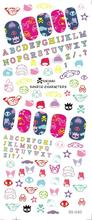 DS040 Water Transfer Foils Nail Art Sticker Harajuku Element Design Manicure Decals Minx Nail Decorations Patch New 2017