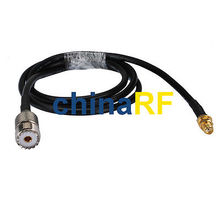 UHF SO239 female SO-239 to SMA female bulkhead RF adapter pigtail cable RG58 1M