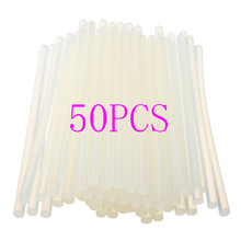 New 50pcs 7mmx190mm Clear Glue Adhesive Sticks For Hot Melt Gun Car Audio Craft transparent For Alloy Accessories(China)
