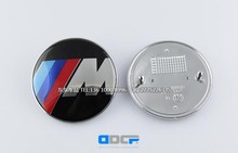 2pcs Free shipping High quality 82mm or 73mm ///M M logo Car Front Hood Bonnet Badge+Rear Emblem with Pins Auto accessories(China)
