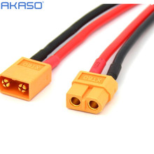 XT60 Connector Female W/Housing 10CM Silicon Wire 14AWG for RC quadcopter Tank Helicopters Airplanes Boats battery power cable(China)