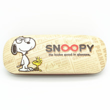 New Kawaii Snoopie Cartoon Dogs Mini Pen Bag Students Fashion Leather Glasses Case 148*48*28MM Kids Christmas gifts
