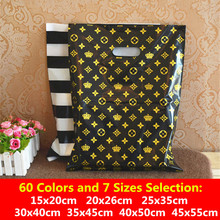 9x15 15x20cm Gift Packaging Bag Plastic Bags Handles Clothes Shopping Gift Bag Kids Jewelry Wedding Party Supplies Package Bag(China)