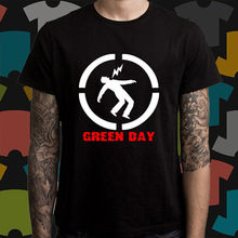 New GREEN DAY Punk Rock Band Logo Men's Black T-Shirt Size S to 3XL Short Sleeve T Shirt Free Shipping Print Round Neck Man