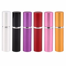 Durable Smooth Surface Aluminum Metal Refillable Atomizer Empty Perfume Bottle Lady Gift 5ml  100% Top Good Hot Selling