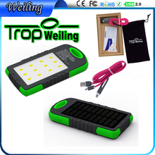 Tropweiling solar power supply 6000mah charger portable mobile power battery charger power banks for All phones