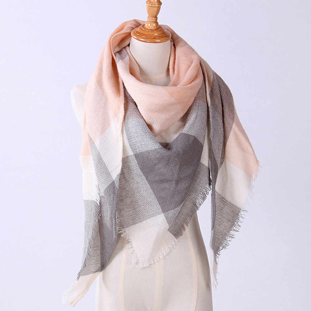Bufanda triangular más vendida chal cachemir otoño bufandas de lana a  cuadros manta bufandas femeninas bufanda a4c9194973d