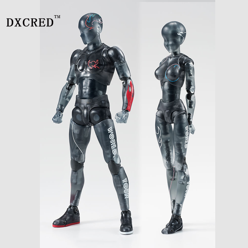 Male Female Movable body joint Action Figure Black PVC Art painting Anime model doll Mannequin Art Sketch Draw Human body doll<br>