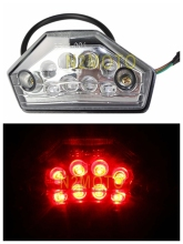 Clear LED Tail Stop Brake Light Motorcycle Dual Sport ATV EXC Super Moto 450 F