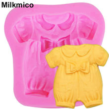 Milkmico M601 1PCS Baby Cloth Trojan horse,Bow Silicone Cake Mold Candy Fondant Chocolate Cake Decorating Silicone Mold(China)