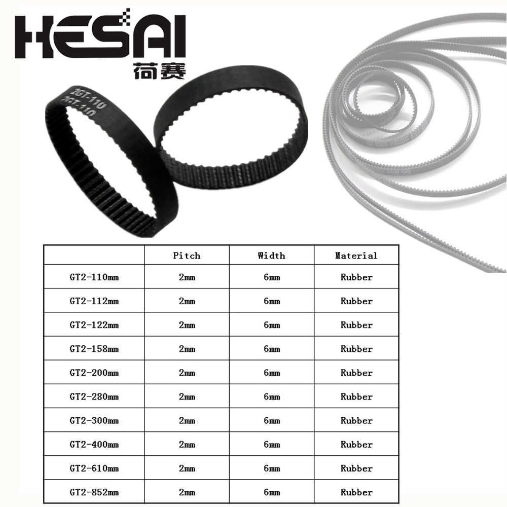 Size : 400mm XIAOMINDIAN 3D Printer Belt Closed Loop Rubber GT2 Timing Belt 2GT-6 200mm 110//200//280//300//400//610//852 Width 6mm for UM2 Ultimaker Slider Printer Parts