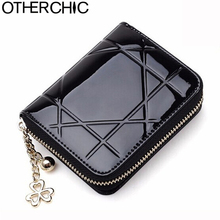 OTHERCHIC Patent Leather Women Short Wallets Ladies Small Wallet Zipper Coin Purse Pocket Female Wallet Purses Money Bag 5012