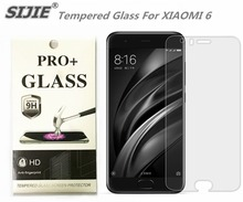 SIJIE Tempered Glass For XIAOMI 6 0.26mm MI6 MI Screen Protector protective front stronger discount with Retail Package protect