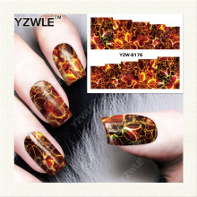YZWLE 1 Sheet DIY Nails Art Deals Water Transfer Printing Stickers Accessories For Manicure Salon YZW-8176