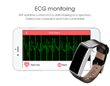 2017 Fashion ECG monitoring Bluetooth Smart Wristband Support Heart Rate Breath Training Pedometer Smart Watch for Android IOS(China)