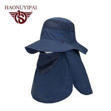 2016 High quality Men WomenWide Brim Bucket Hat With String Waterproof Outdoor Fishing Hunting Hat Fisherman Cap Sun Hat GL-P-29