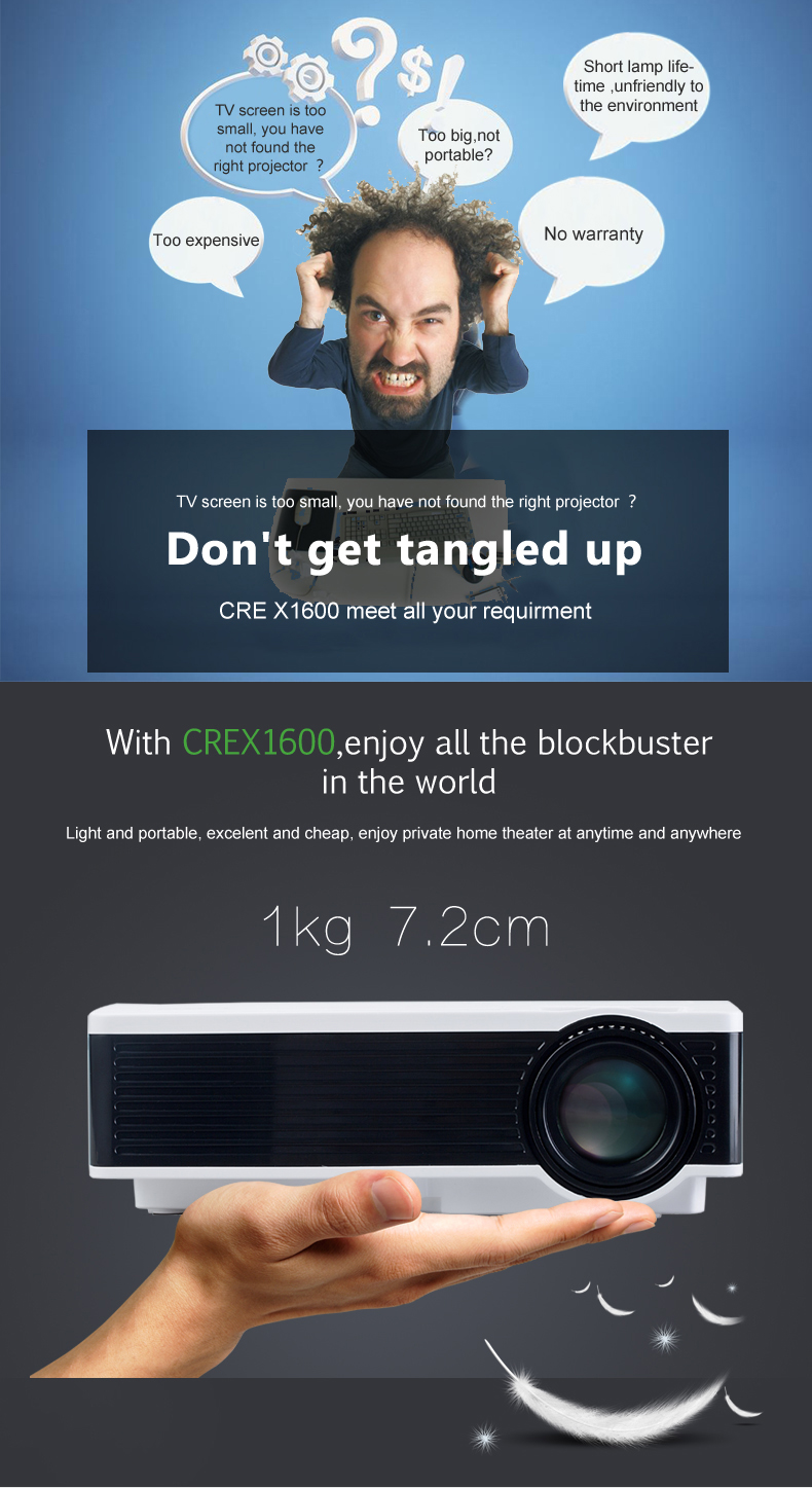X1600 led projector