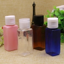 100X30ml clear/blue/brown pet flip cap bottle Shampoo Cosmetic Container 30ml Lotion Cream Plastic Bottle Skin Care Cream(China (Mainland))