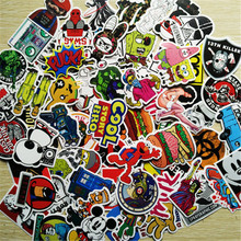 Hot Sale 100 pcs/set non-repeat Sticker Personality single Waterproof motorcycle Stickers Trolley Stickers Cartoon Graffiti Toys