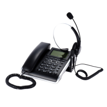 HF700 2 in 1 Business Telephone Call Center Headset Phone Handsfree Desk Headphone Caller ID Telephone CustomerService Telephone(China)