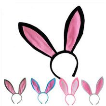 Free shipping colorful children adult Easter gift decoration big rabbit Bunny ear headband costume party hairband(China)