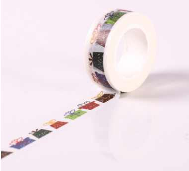 AB151-15mm*10m colorful box diy decorative washi adhesive tape(50pieces or 100pieces)<br>