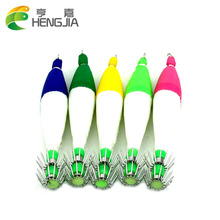 HENGJIA 1000pcs 8.5cm 4.8G 2.5# jigs Noctilucent Squid fishing lure jig Luminescent materials artificial wood squid baits(China)