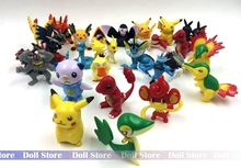 25pcs/lot 2.5-5CM mini cute kawaii Japanese anime figure  pocket monster Go!action figure collectible model toys for boys girls