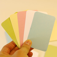 (100 sheets/lot) Vintage Blank Card DIY Greeting Cards Graffiti Word Cards Thick Kraft Paper Colorful Blank Postcards