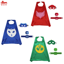 70*70 cm Classical P J Children cape and mask cuffs pj masks costume birthday party disfraz for boys pj masques costume cosplay