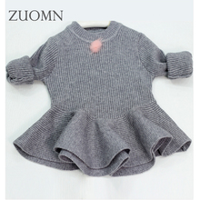 Baby girl knitted sweater kids knitting shirt clothes for babygirls children sweaters warm long sleeve for girls knitwear YL297