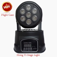 Hot Eyourlife 7 x 12W RGBW 4in1 CREE LED Mini Moving Head DJ Disco Stage Party Effect Lighting with Flight case