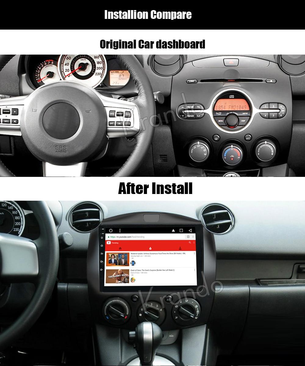 Krando mazda 2 Android car radio gps navigation multimedia system