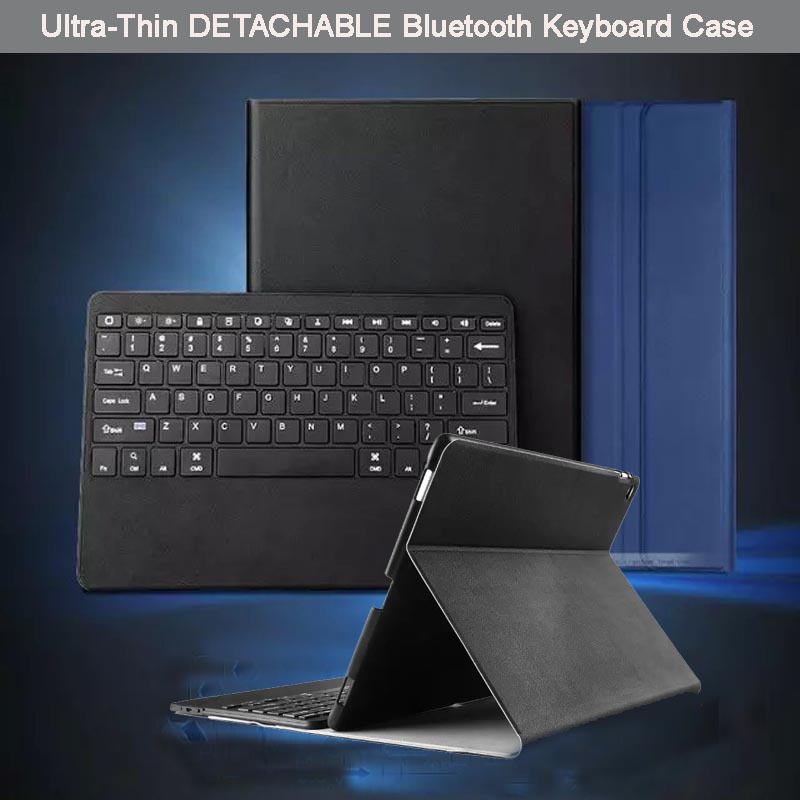 For Apple iPad Pro 12.9 Ultra-Thin Aluminum Bluetooth Keyboard Portfolio Stand Leather Case Cover - Detachable ABS Keyboard<br><br>Aliexpress