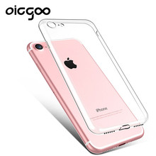 Oicgoo Silicone Case For iPhone 6 6s 6 plus 6s plus Transparent Phone Back Cover Soft TPU Coque For iphone 7 7 plus Cases(China)