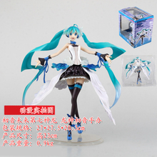 23cm Japanese Anime Hatsune Miku Toy Cartoon Sexy Pretty Long Hair Model Dolls figma Lovely Cute PVC Action Figure World. GH367