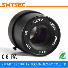 "SMTSEC SL-2512F 25.0mm F1.2 1/3"" CS Mount Fixed Iris Lens for CCTV Surveillance IP Camera"