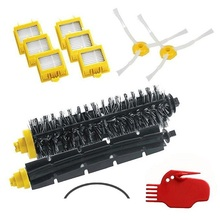 For iRobot Roomba 700 Series Vacuum Cleaning Robots 760 770 780 790 with 6 HEPA Filter +2 Side Brush +1 set Bristle Brush