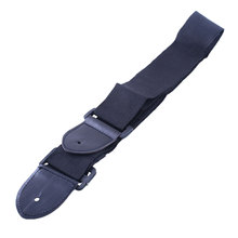 Free shipping Black Adjustable Leather Ends Guitar Strap Electric Acoustic Guitar Durable GYH
