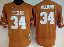 Free Shipping NikeWomens Texas Longhorns WILLIAMS #34 CAMPBELL #20 McCOY #12 YOUNG #10 Ice Hockey Jerseys(China)