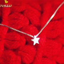 Flyleaf 925 Sterling Silver Little Stars Necklaces & Pendants For Women Fashion Lady Prevent Allergy Jewelry Accessories(China)