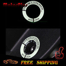 3D Car Styling Glow Key Ring Hole Sticker Lumunous Ignition Switch Cover Motorcycle Decal Circle Light Decoration Universl Fit