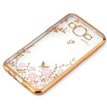 Buy Soft Case Samsung J3 Cover Flora Bling Diamond Flexible Silicone Transparent TPU Back Cover Samsung Galaxy J3 2016 Cases for $2.78 in AliExpress store