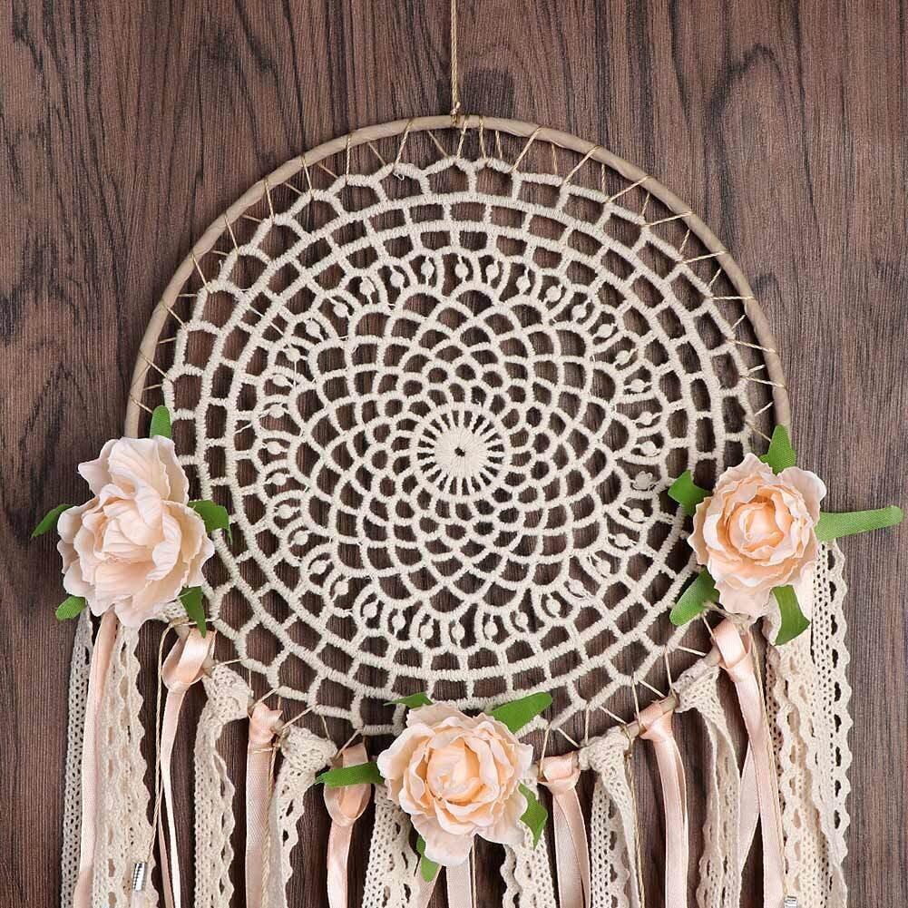 Attrape rêves macramé fleur décoration mariage murale intérieur tipi capteur de rêves culture amérindienne peuple indien amérique du nord style bohème scandinave chic