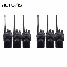 6pcs Walkie Talkie Retevis H777 UHF 400-470MHz Frequency Portable Ham Radio Hf Transceiver Radio Communicator Handy Telsiz A9105
