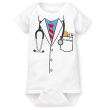Doctor baby boy bodysuit short sleeve summer baby clothes Newborn Jumpsuits Bebe clothing girl Infant Bodysuits(China)