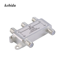 kebidu 4 Way Satellite/Antenna/Cable TV Splitter Distributor 5-2400MHz F Type In Stock Drop Shipping(China)