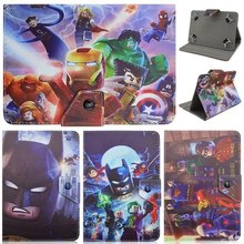"Universal Case Kid Cartoon Worlds Greatest Super Heroes Superman Pu Leather Case Cover for 7""inch Tablet PC"