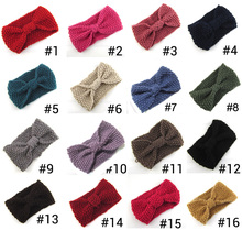 Corn Style Fashion Women Crochet Headband Solid Knitted HeadwrapsGirls  handmade  Hair Accessory 16color pick 30pcs/lot